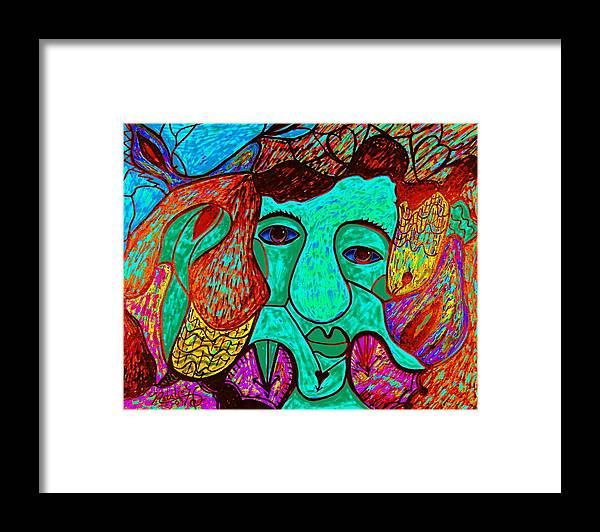 Man Framed Print featuring the painting Looking For Love by Natalie Holland