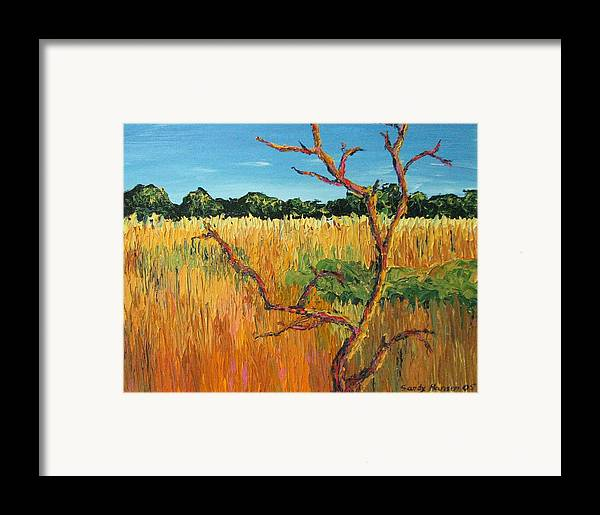India Framed Print featuring the painting Looking For Tigers by Art Nomad Sandra Hansen