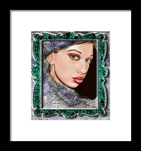 Portraid Framed Print featuring the painting Looking Glass by Maritza De Leon