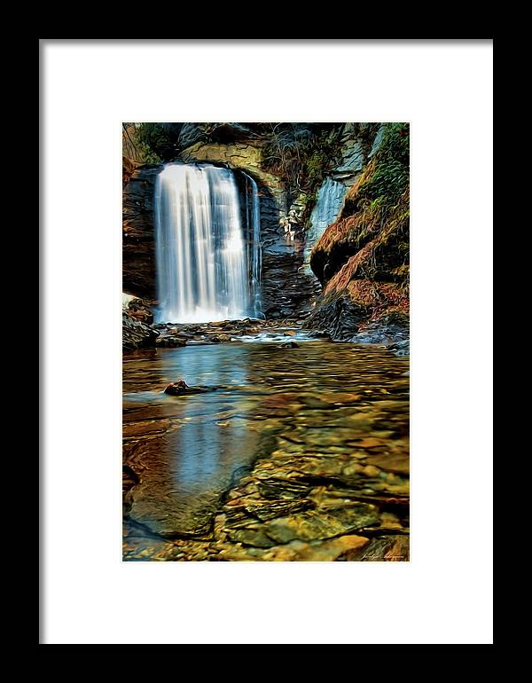 Waterfall Framed Print featuring the photograph Through The Looking Glass by Jacalyn Ackerman