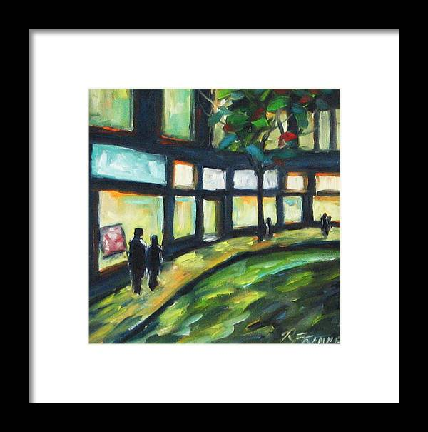 Town Framed Print featuring the painting Looking On by Richard T Pranke