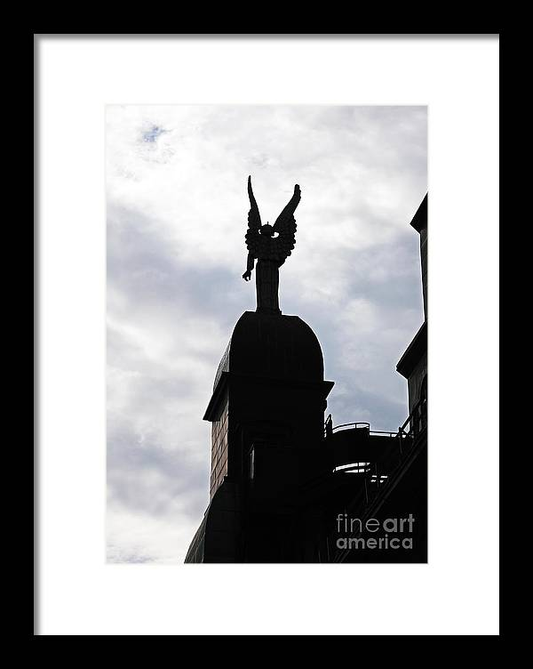 Looking Out In Montreal Framed Print featuring the photograph Looking Out In Montreal by John Rizzuto