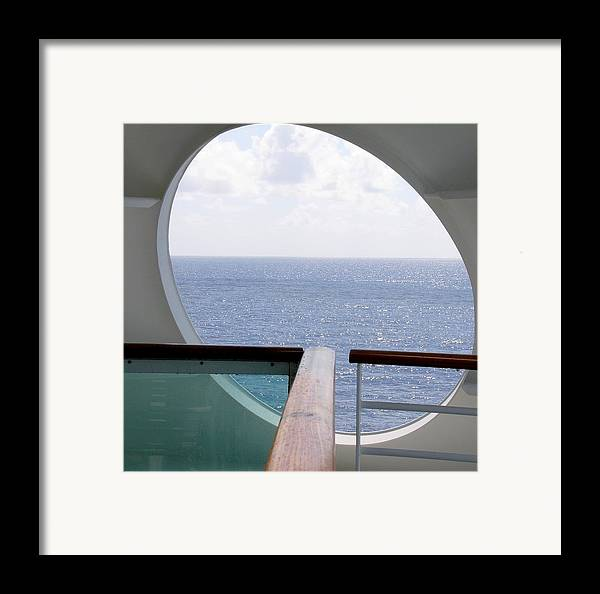 Ocean Framed Print featuring the photograph Looking Out by Kenna Westerman
