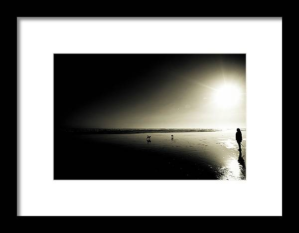 Jen Framed Print featuring the photograph Looking Out To The Sun by James MacKay