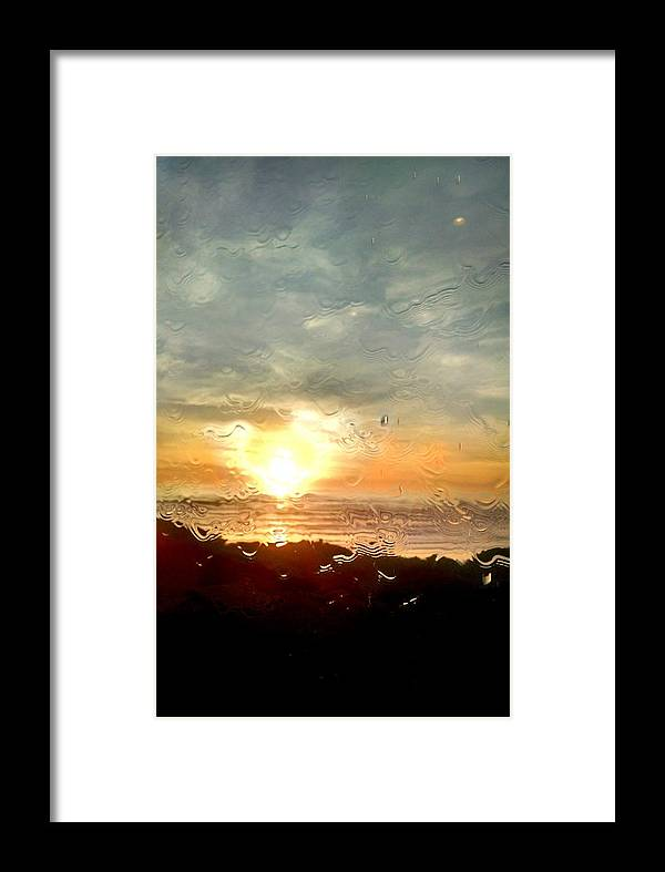 Ocean Framed Print featuring the painting Looking Through Glass by Katie McGuire