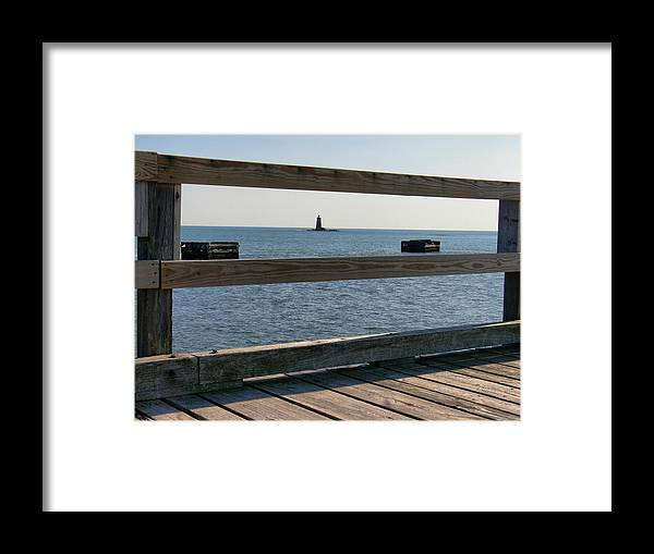 New England Lighthouse Framed Print featuring the photograph Looking Through by Nancie DeMellia