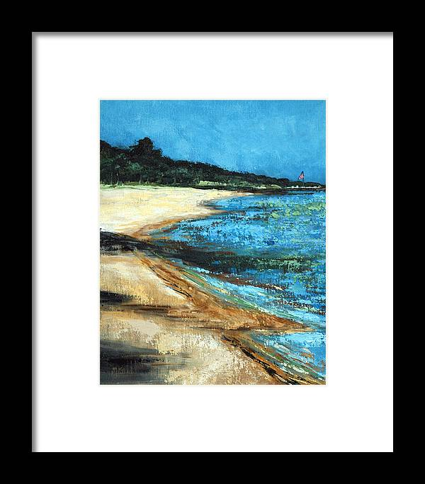 Acrylic Framed Print featuring the painting Looking Toward Old Glory by Suzanne McKee