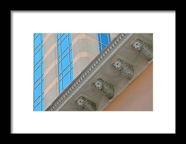 Archetecture Framed Print featuring the photograph Looking Up Looking Down by Dan Holm