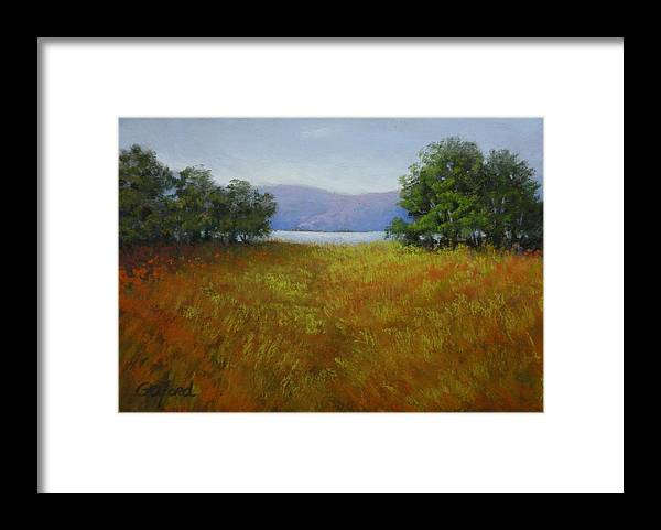 Pastel Framed Print featuring the painting Lookout Over Nickajack by Paula Ann Ford