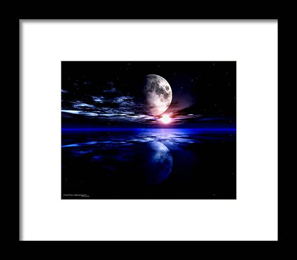 Moon Framed Print featuring the digital art Loom by Dreamlight Creations