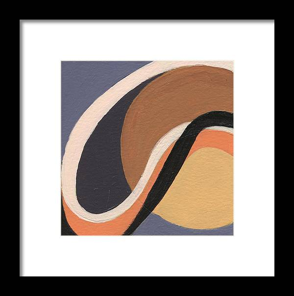Acrylic Framed Print featuring the painting Loops 4 by Jean Beal