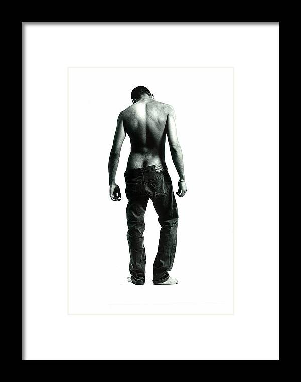 Male Framed Print featuring the photograph Loose Jeans by Rusty Walton