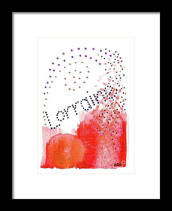 Abstract Framed Print featuring the painting Lorainne 2 by Corinne Carroll