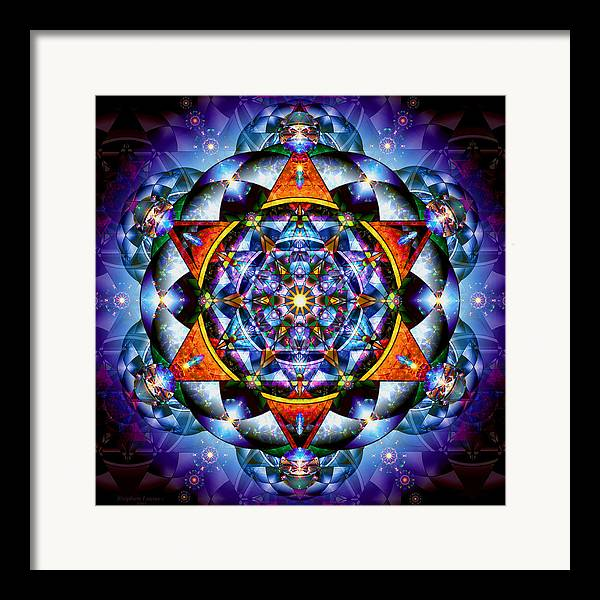Mandala Framed Print featuring the digital art Lord Of Light I by Stephen Lucas