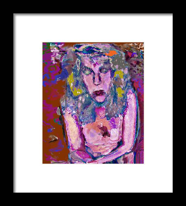 Portrait Framed Print featuring the painting Lorita by Noredin Morgan
