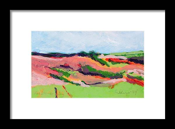 Landscape Framed Print featuring the painting Los Alamos Valley II by Deborah Hildinger
