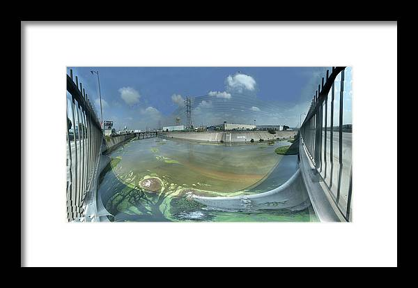 Bridge Framed Print featuring the photograph Los Angeles River Bandini Avenue Bridge North by Pete Babij