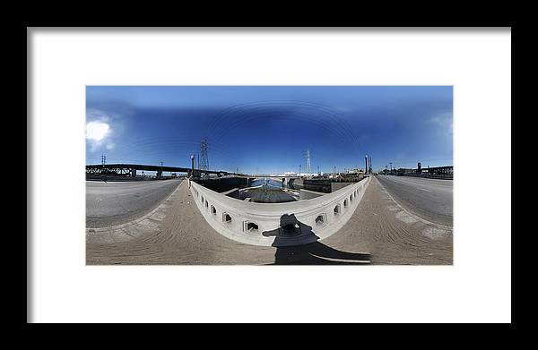 Bridge Framed Print featuring the photograph Los Angeles River Washington Avenue Bridge North by Pete Babij