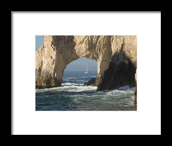 This Was Taken In Puerto Vallarta Framed Print featuring the photograph Los Arcos by Terri Warner