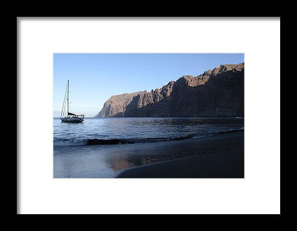 Seascape Framed Print featuring the photograph Los Gigantes Yacht by Phil Crean