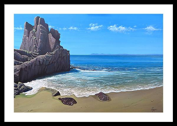Tropical Framed Print featuring the painting Los Muertos Beach by Hunter Jay