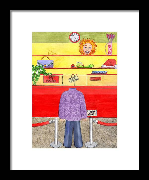 Humor Framed Print featuring the painting Lose Something by Catherine G McElroy