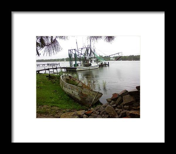Boat Framed Print featuring the photograph Lost Boat by Patricia Caldwell