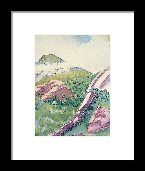 Mountains Framed Print featuring the painting Lost Creek by D T LaVercombe