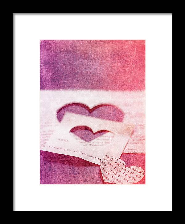 Hearts Framed Print featuring the photograph Lost Hearts by Rebecca Cozart