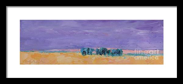 Paintings Framed Print featuring the painting Lost Horizon by Marsha Heimbecker