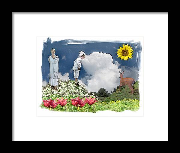 Young Girls Framed Print featuring the photograph Lost In Found by Rose Guay