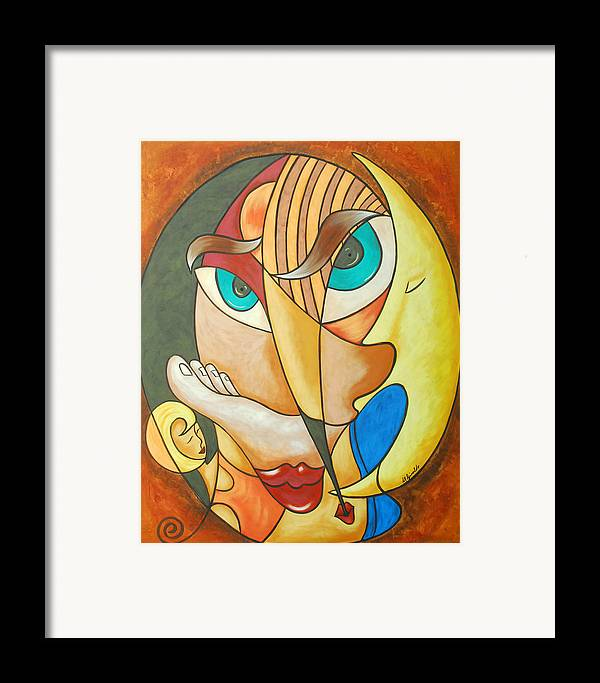 Abstract Expressionism Framed Print featuring the painting Lost In Ourselves by Marta Giraldo