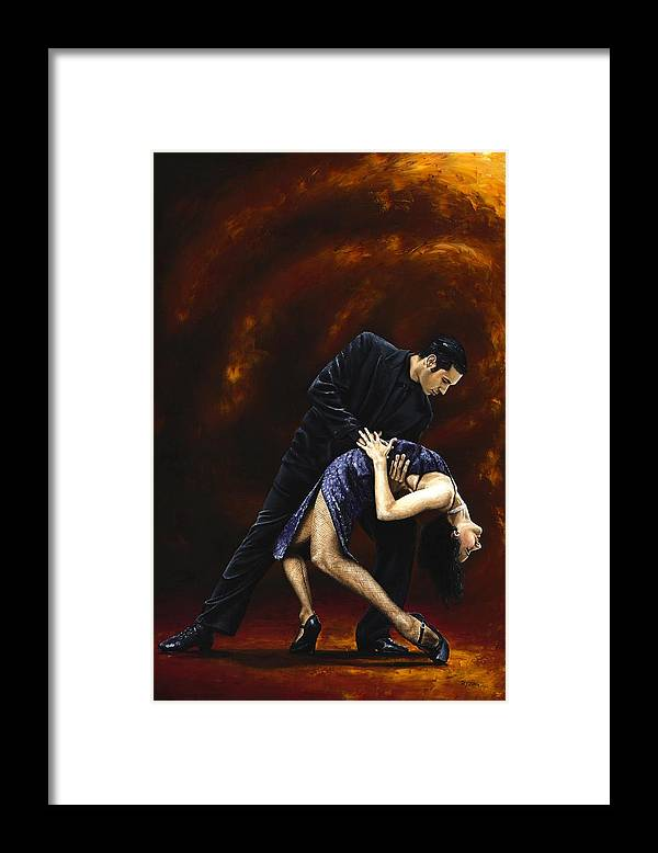 Tango Framed Print featuring the painting Lost in Tango by Richard Young