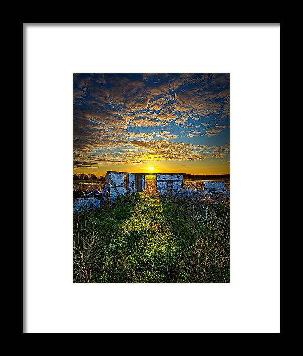 Horizons Framed Print featuring the photograph Lost In Time by Phil Koch