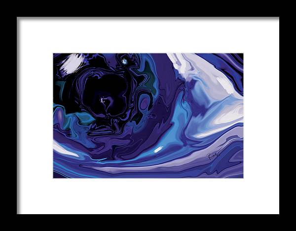 Blue Framed Print featuring the digital art Lost-in-to-the-eye by Rabi Khan