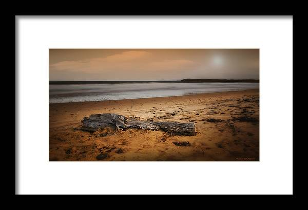Seascape Photography Framed Print featuring the photograph Lost Log 002 by Kevin Chippindall