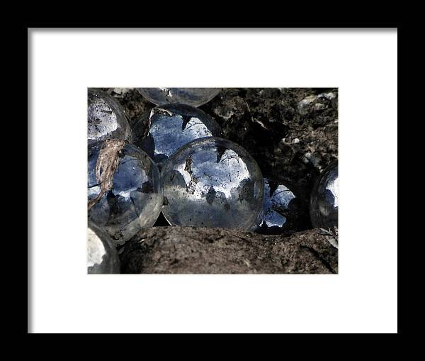 Marbles Framed Print featuring the photograph Lost Marbles-self Found by Mary Tucker