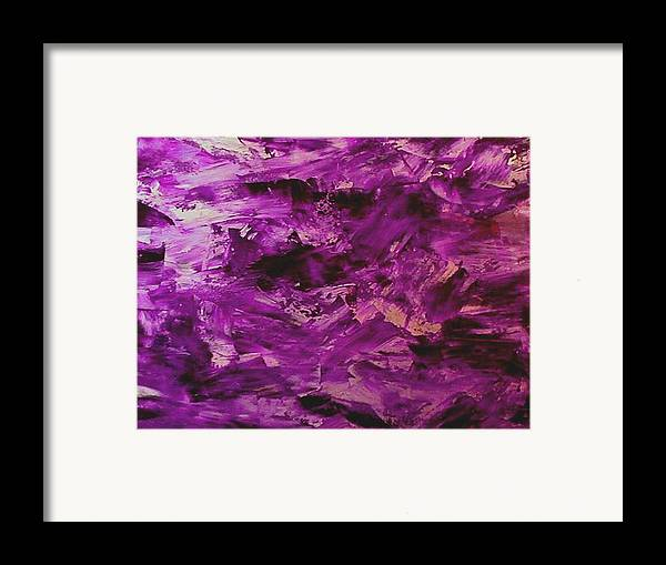 Abstract Framed Print featuring the painting Lost Painting by Guillermo Mason