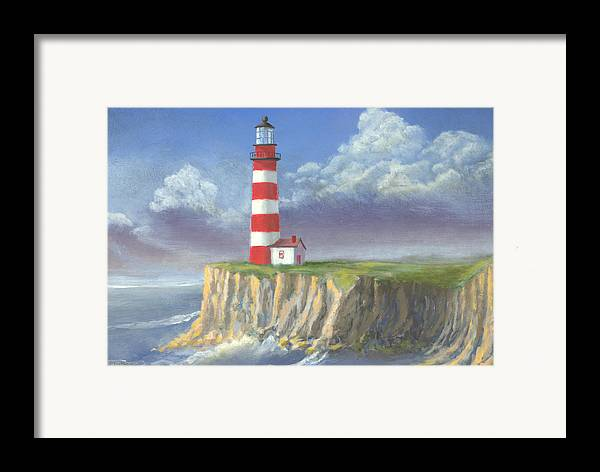 Light Framed Print featuring the painting Lost Point Light by Jerry McElroy
