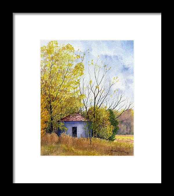 Landscape Framed Print featuring the painting Lost Silo by Michael Taylor