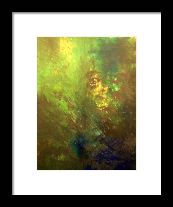 Abstract Framed Print featuring the painting Lost Soul or In the Garden by DeLa Hayes Coward