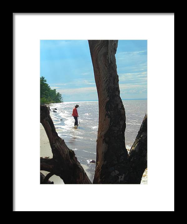Beach Framed Print featuring the photograph Lost Woman by Peter Mowry