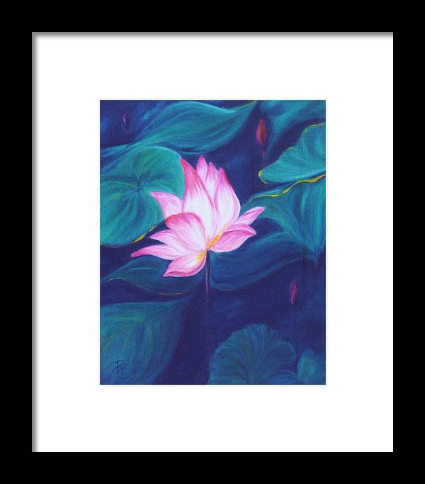 Floral Framed Print featuring the painting Lotus by Dina Holland