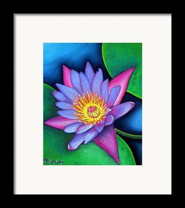 Flower Framed Print featuring the painting Lotus Divine by Minaz Jantz