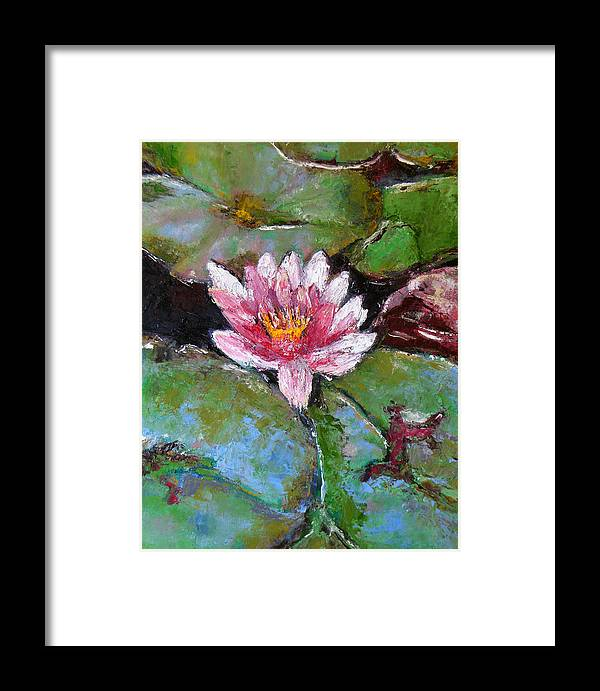 Knife Framed Print featuring the painting Lotus Of The Pond by Lou Ewers