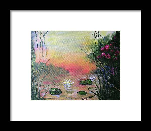 Lotus Framed Print featuring the painting Lotus Pond Fantasy by Barbara Harper