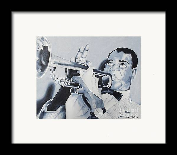 Idols Framed Print featuring the painting Louis Armstrong by Joseph Palotas