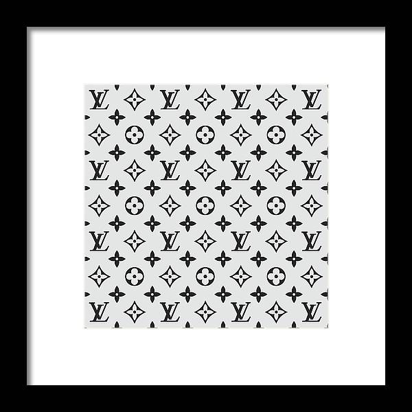 dfc4a7cf2669 Louis Vuitton Pattern Lv 07 Grey Framed Print by TUSCAN Afternoon