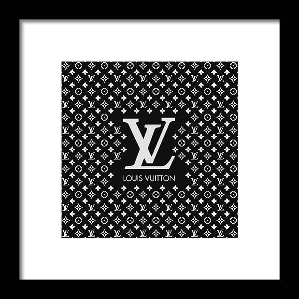 Louis Vuitton Framed Print featuring the digital art Louis Vuitton Pattern - Lv Pattern 11 - Fashion And Lifestyle by TUSCAN Afternoon