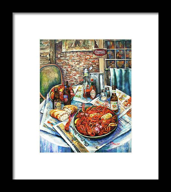 New Orleans Art Framed Print featuring the painting Louisiana Saturday Night by Dianne Parks